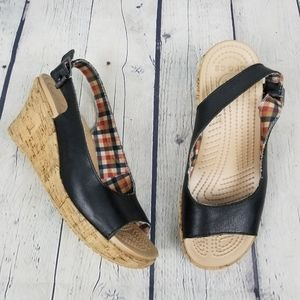 CROCS | slingback open toe wedge sandals